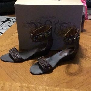 Nine West Size 8 Brown Sandals Leather